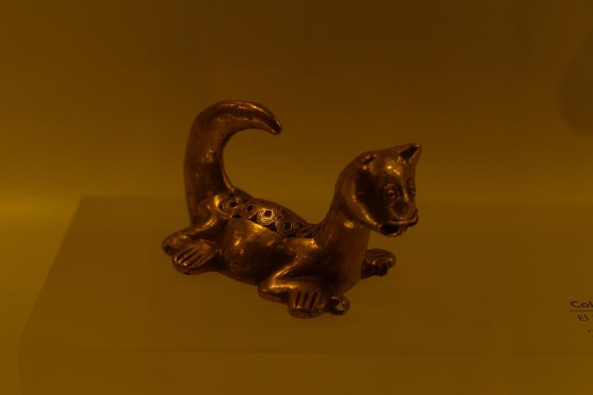 museo del oro travel in bogota colombia cat
