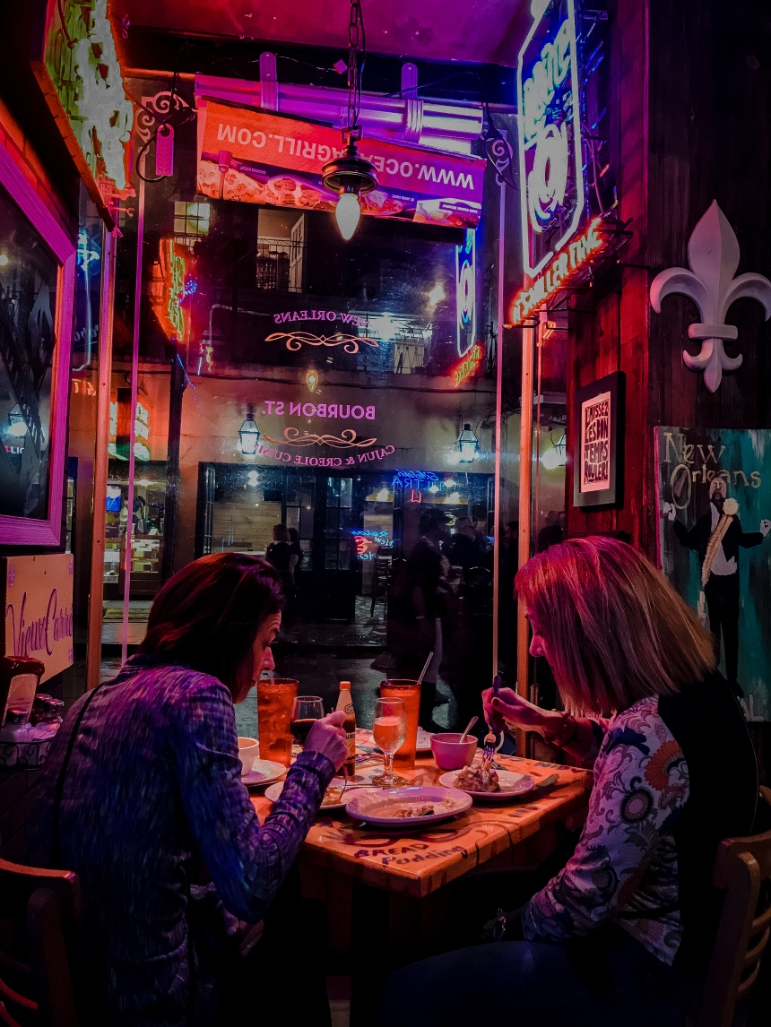 Oceana Grill, fresh oysters and Gator Tail Bites visit new orleans bourbon street