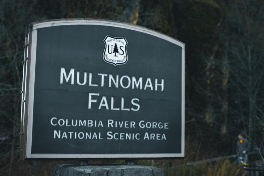Multnomah Falls, Columbia River Gorge Jan Portland Oregon