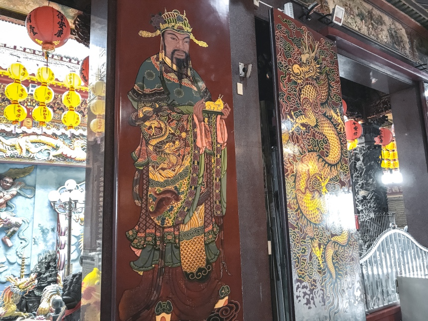 Taiwan worshipping in Qimingtang (Qiming temple) 啟明堂 old chinese culture