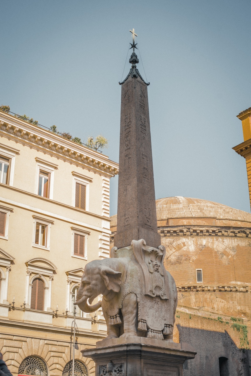 Bernini's elephant Obelisco della Minerva Elephant and Obelisk The ultimate Rome 6-day trip itinerary