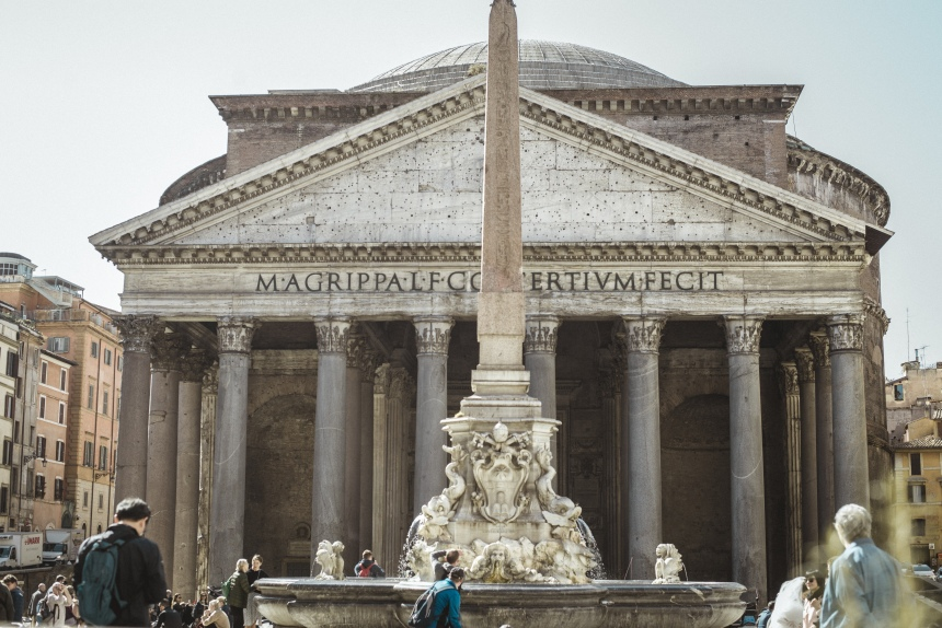 Pantheon & Fontana del Pantheon Rome tourist must see in Rome 6 days travel guide